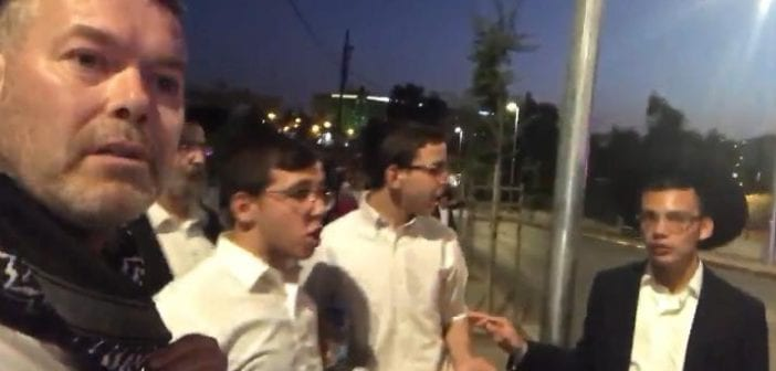 Robert Martin interviews racist Israeli settlers and Zionist blocking Palestinians from going to their own homes